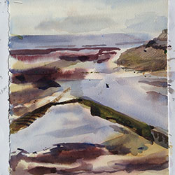 Musselburgh estuary  A3 Watercolour 2014